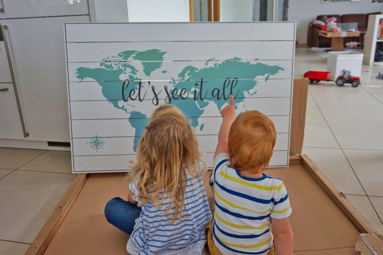 Perfekte Weltkarte für Weltenbummler