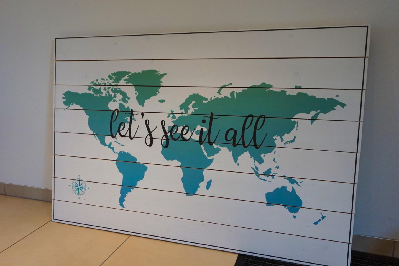 Das perfekte Wandbild für Weltenbummler!