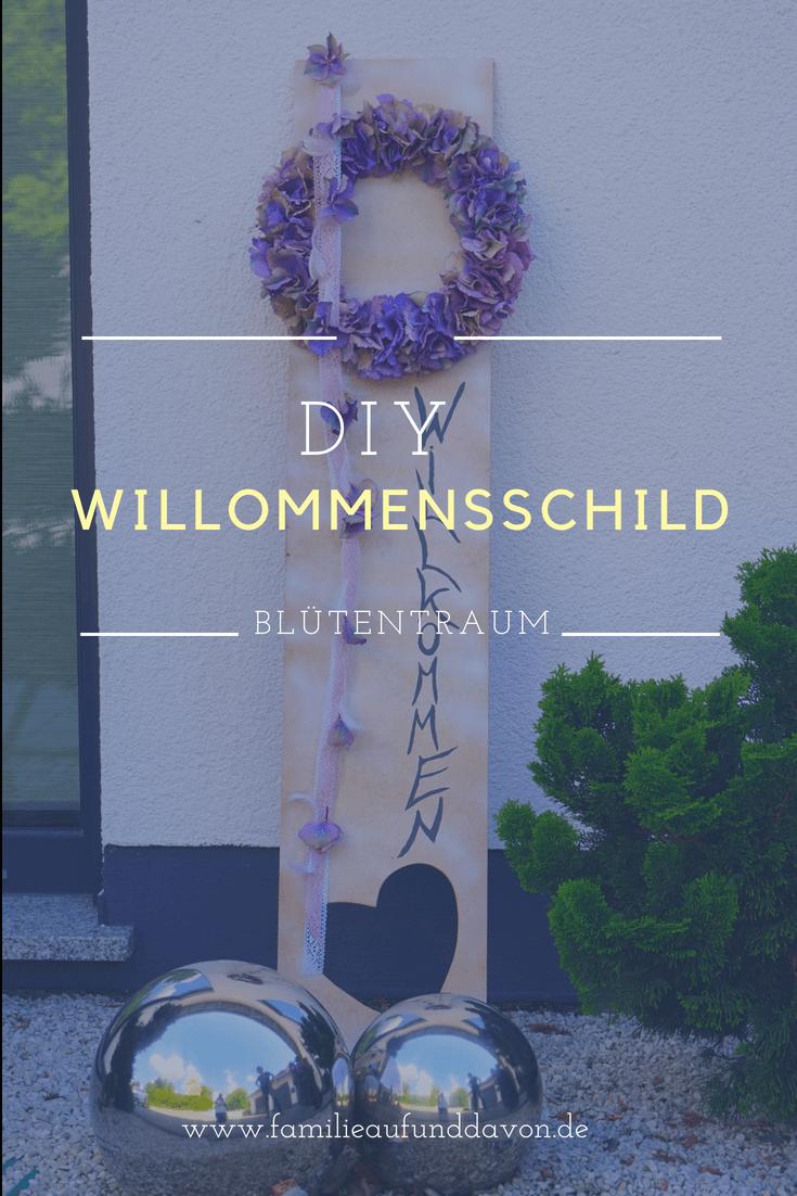 DIY Willkommensschild