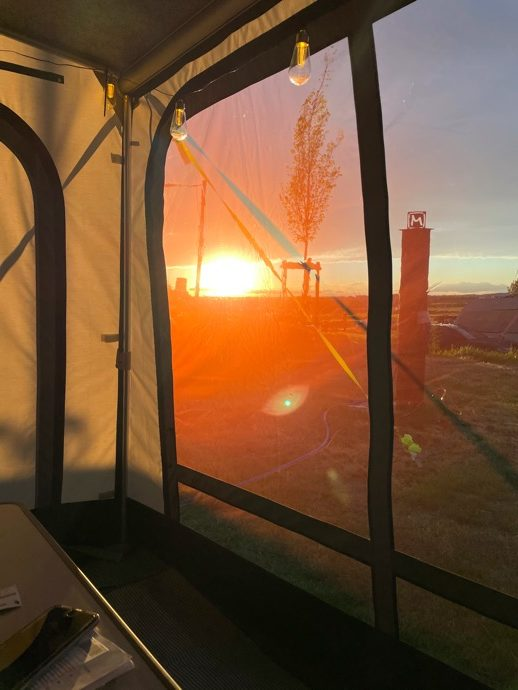 Sonnenuntergang Vorzeit